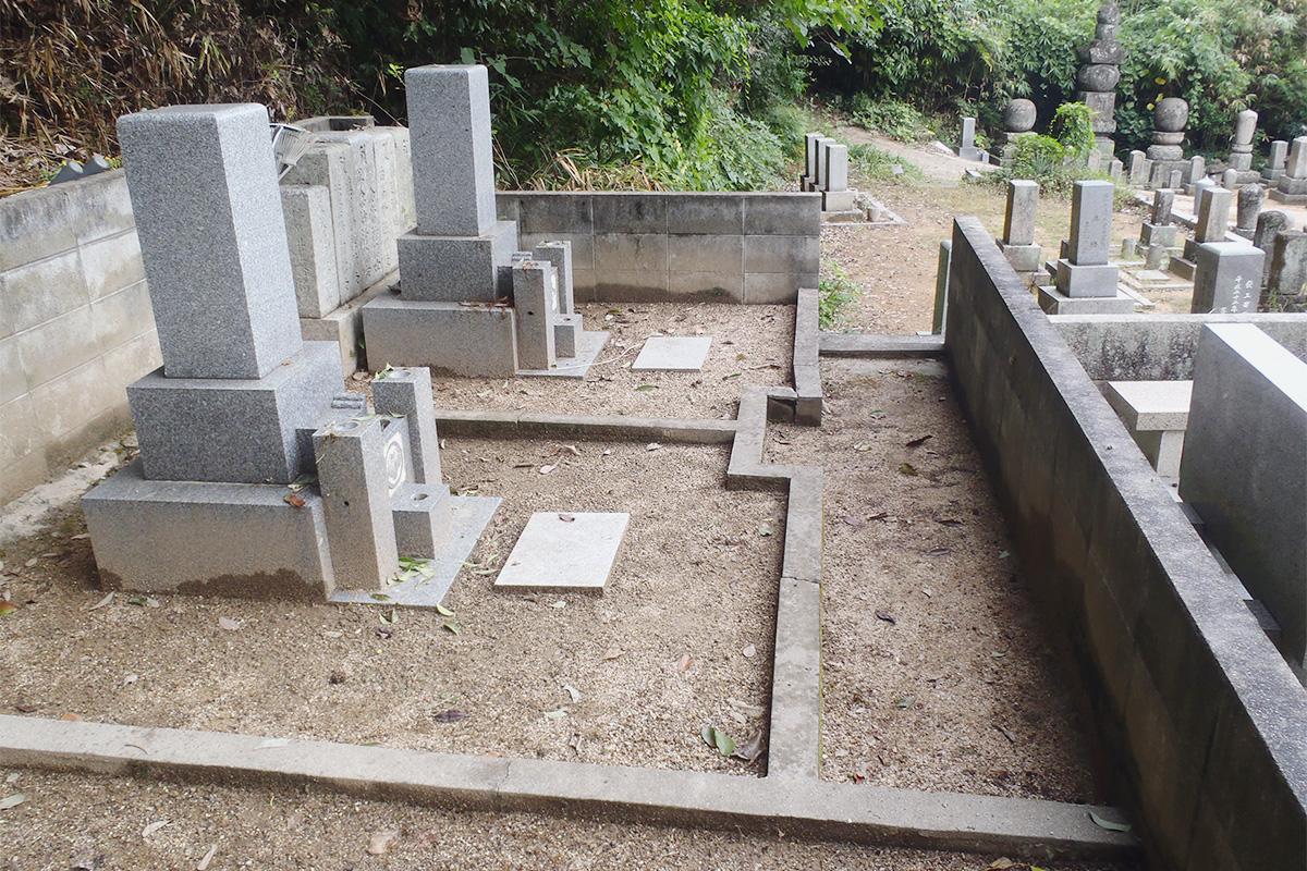 墓土舗装前