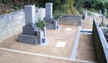 墓土舗装後